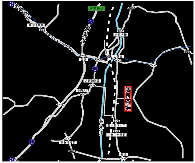蔵田寺 澤泉斎場アクセス地図